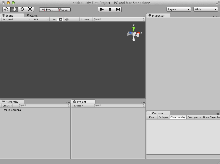Unity UI with Console